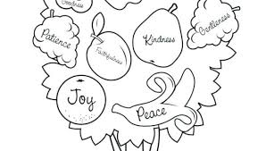 Fruit Of The Spirit Goodness Coloring Page Kindness Pages Kjv Fruits