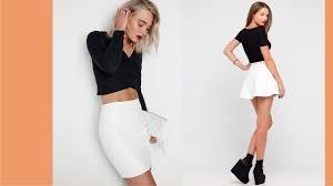 gorgeous white faux leather skirt