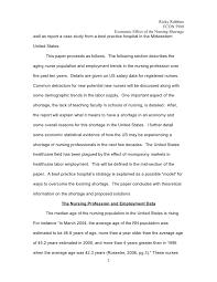 economic analysis of nursing shortage