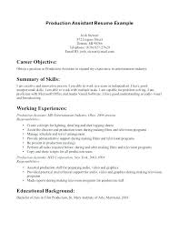 Production Resume Examples Film Studio Assistant Jobs London Production Resume Sample S Fashion