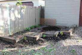 make a garden with reclaimed railroad ties