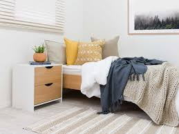 yellow bedroom furniture. Mocka Brooklyn Single Bed - White/Natural With Bedside Table Yellow Bedroom Furniture