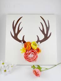 flower antler canvas painting 30e52c5330bece63b396de58c9b2d21f deer paintings canvas