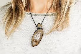 personalized agate pendant