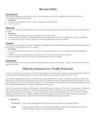 Sample Objective Statement Resume Resume For Your Job Application