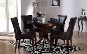 black brown dining table set luxury hudson round dark wood extending dining table and 4 chairs