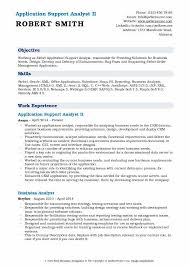 C Resume Sample Best Of Application Support Analyst Resume Samples QwikResume