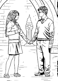 Small Picture Free harry ron and hermione coloring pages Halloween Party Ideas