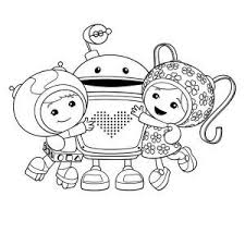 Team Umizoomi Geo And Milli Hug Bot In Team Umizoomi Coloring Page