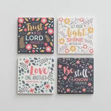 Decorative Tile Coasters Scripture Ceramic Coasters Set of 100 DaySpring 12