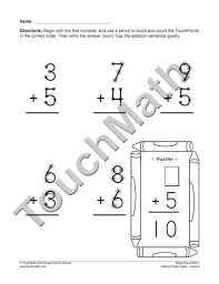 9 Best Images of TouchMath Printable Worksheets - Free Printable ...Printable Touch Math Addition Worksheets