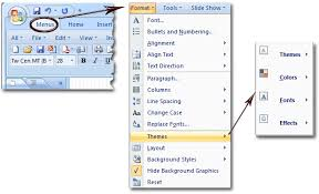 microsoft powerpoint slideshow templates where is the themes in microsoft powerpoint 2007 2010 2013