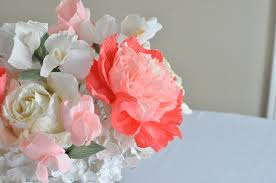 Paper Flower Wedding Centerpieces Peony And Gardenia Paper Flower Wedding Centerpiece