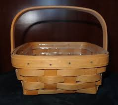 longaberger square berry basket swing handle traditions classic 2000 kh