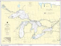 Noaa Nautical Chart 14500 Great Lakes Lake Champlain To Lake Of The Woods