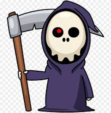 cute grim reaper cartoon png image with