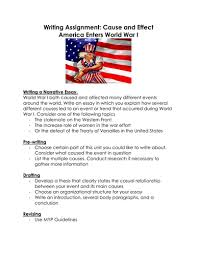 writing assignment cause and effect america enters world war i by writing assignment cause and effect america enters world war i by linni0011 teaching resources tes