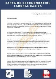 Ejemplo de carta de recomendación o referencia laboral. Cartas De Recomendacion Laboral Descarga E Informacion