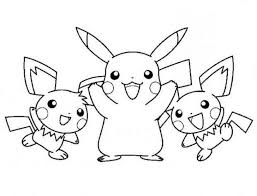 Cute Pikachu Coloring Pages Fun Color Club Coloring For Kids Pokemon