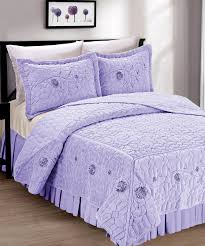 faux fur ribbon embroidery bedspread sets in purple for bedroom decoration ideas