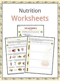 Nutrition Facts Worksheets Key Information For Kids