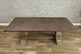 images zinc table top: homelegance anna claire dining table driftwood zinc