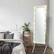 Free Standing Full Length Mirror With Lights Led Lights Floor Mirror Bedroom Wood Standing Full Length Dressing Cheval Makeup