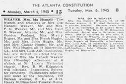 Ida Hansell Hughes Weaver (1869-1945) - Find A Grave Memorial