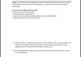 Which Statistical Test Should I Use Chart Part V Use The Flow Chart For Statistical Analysi