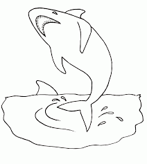 Small Picture Shark Coloring Pages