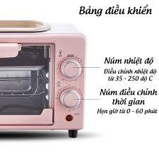 Lò Nướng Điện Mini - Lò Nướng Bánh Đa Năng Công Suất Lớn Dung Tích 10L và  12L Bảo Hành 6 Tháng tại Hà Nội