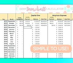 Snowball Calculator Excel Credit Card Payment Calculator Excel Debt Payoff Spreadsheet