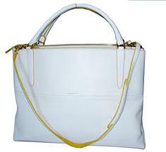 Coach Leather Large Borough Edgepaint Handbag 30985 White Sunglow Gold