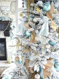 christmas tree decorating ideas 2017 blue and gold decor is ideal for a white tree trees christmas tree decorating ideas 2017