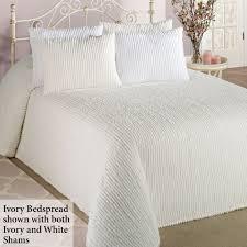 gallery of crisp white lillian chenille bedding sturbridge yankee work king