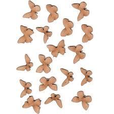 Sheet Of Mini Mdf Wood Butterflies Style 1