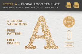 I love this and really want to use it for my son's birthday. Letter A Floral Logo Template Graphic By Textures Creative Fabrica