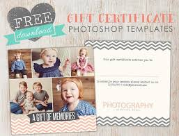 Photography Gift Certificate Template Free Gift Certificate Template Photoshop Birdesign