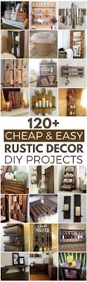 120 and easy rustic diy home decor ideas