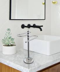 love this product silver modern countertop towel holder