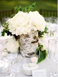 birch centerpiece (cluster 3 of these? or just one per table? w/