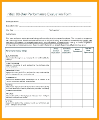 Day Performance Review Template Probationary Employee