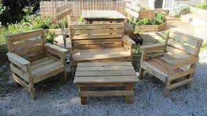 Diy Pallet Garden Furniture Plans Pallet Outdoor Furniture Plans