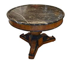 this is great round table with a center pier and three corbels like supports the