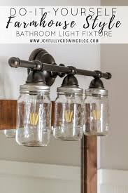 diy farmhouse style mason jar light fixture