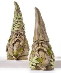set of 2 garden gnome design figurines