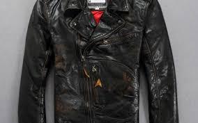 2016 italy vintage leather motorcycle jacket men adjule waist