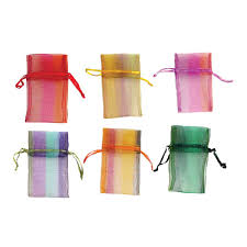 organza drawstring gift bags 4x3 inches 144 piece bulk pack orted colors with plaid pattern storage packaging materials jewelry making supplies