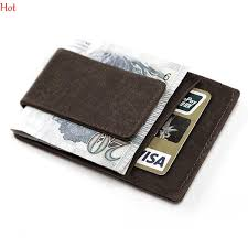 Designer Money Clip Wallet With Card Holder Mini Mens Leather Money Clip Wallet With Coin Pocket Card Slots Thin Purse Man Business Magnet Hasp Card Holder Money Clip Hot Sv029302 Nylon Wallet