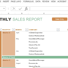 sales report example excel monthly sales report and forecast template for excel in sales